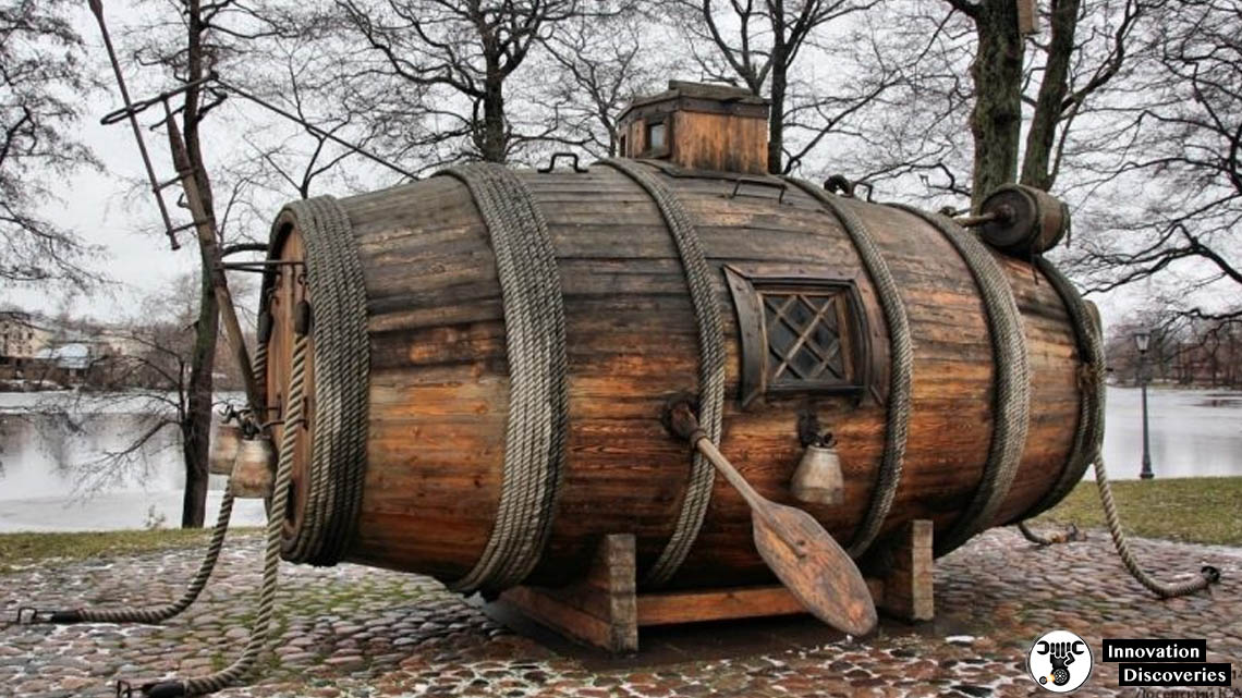 The World's First Military Submarine Was A Wooden Barrel And This Is How It Looked Like | Innovation Discoveries