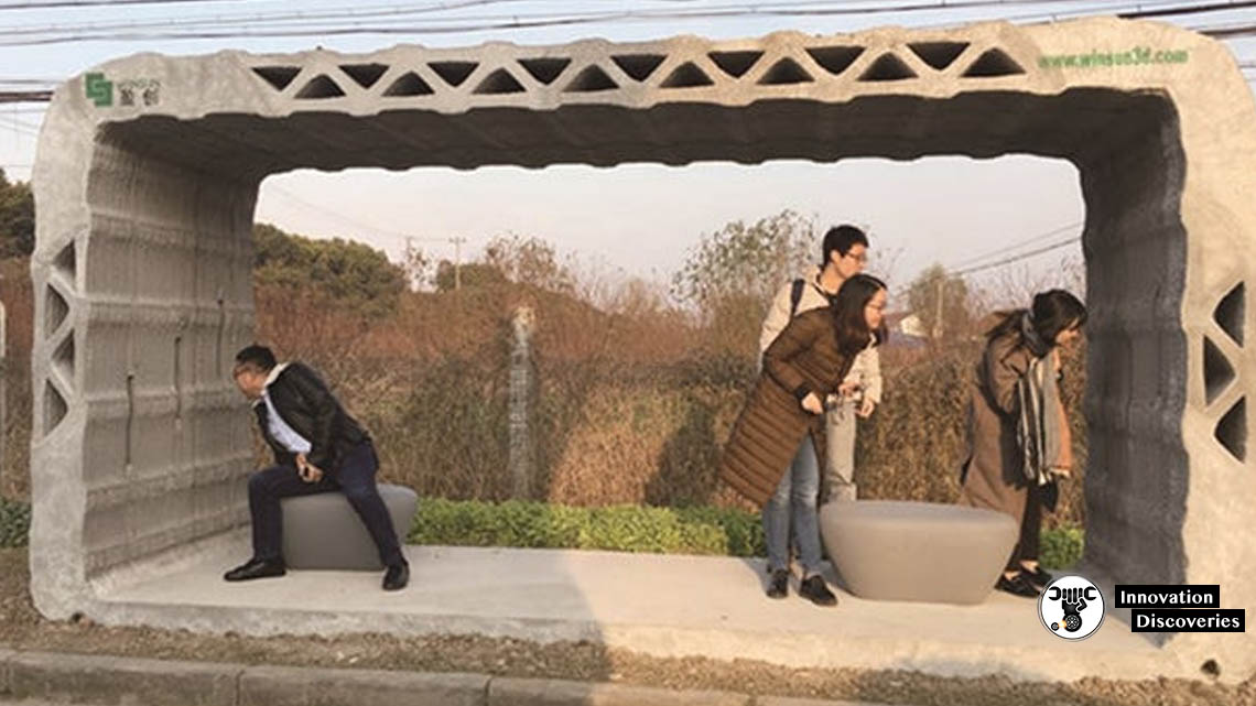 A 3D-Printed Bus Shelter Just Went Into Service In China | Innovation Discoveries