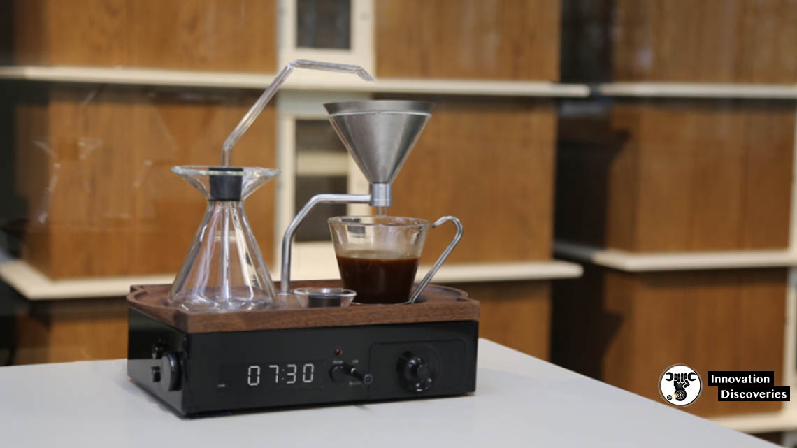 This Alarm Clock Wakes You Up With A Freshly Brewed Cup Of Coffee | Innovation Discoveries