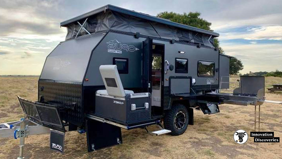 Opus Unveils First Off-Road Trailer With Massive Outdoor Kitchen | Innovation Discoveries