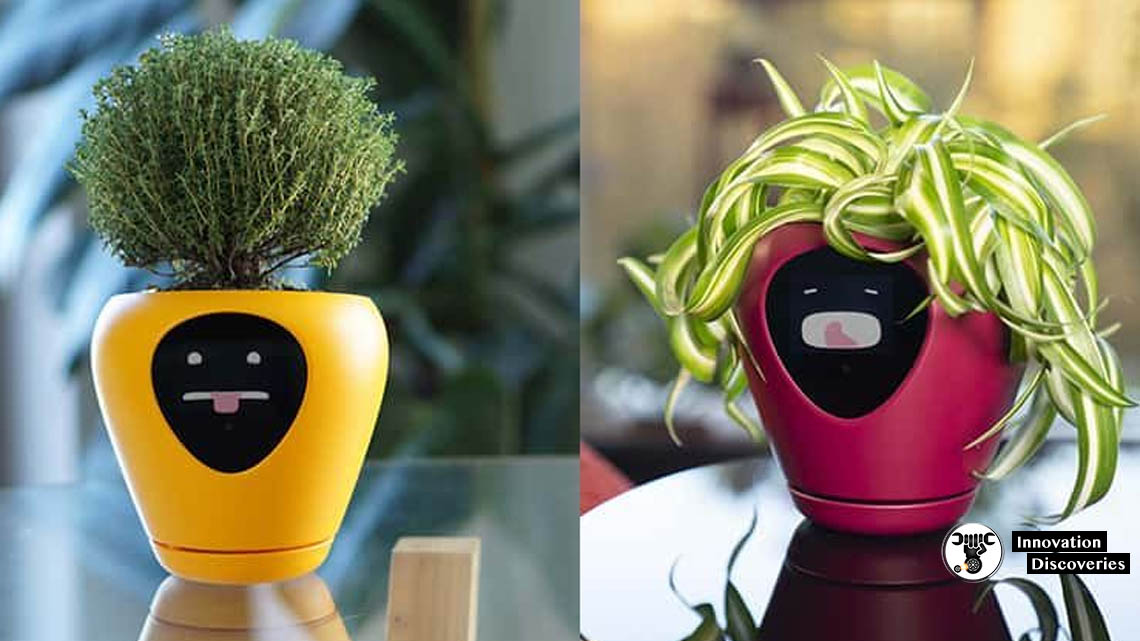 This Smart Pot Has An Animated Face That Tells You How Your Plant Is Feeling