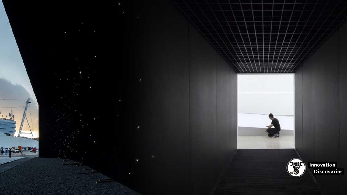 Asif Khan's Vantablack Winter Olympics Pavilion Absorbs Light