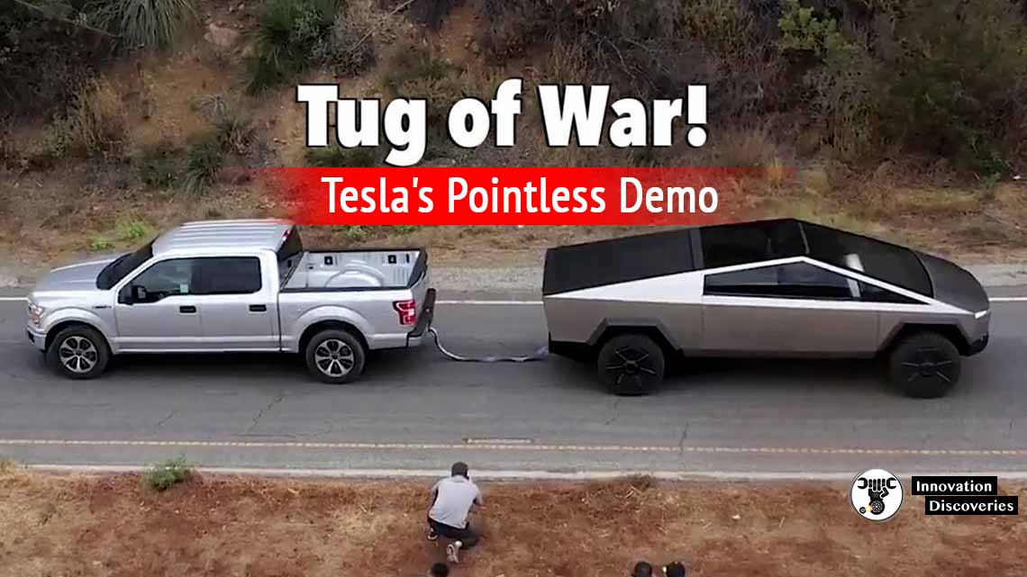 Tesla Cybertruck Tug-Of-War Vs. Ford F-150 Was Completely Pointless