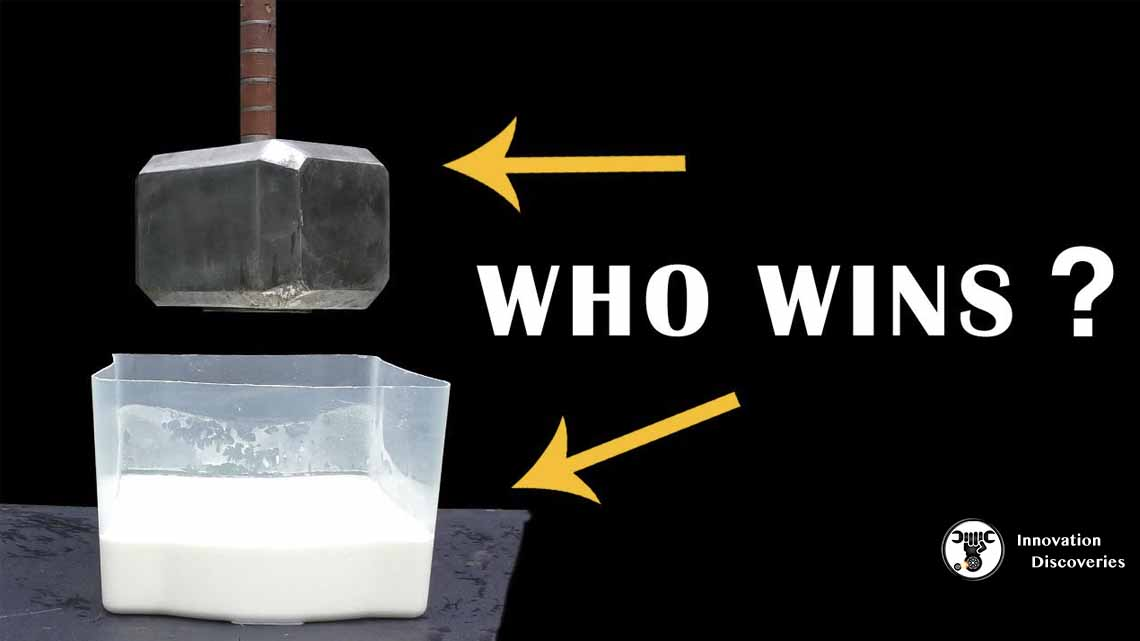 Watch What Happens When You Hit Oobleck With A Hammer