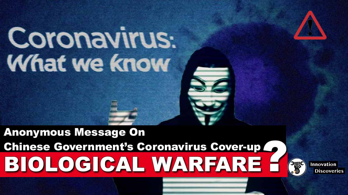 Anonymous Message On Chinese Government's Coronavirus Cover-up