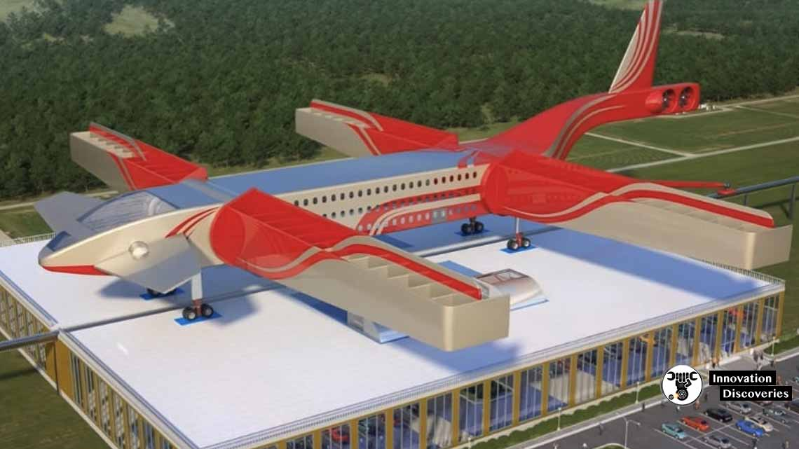 Hybrid Flying Train/Plane Carrying 2,000 Passengers Concept
