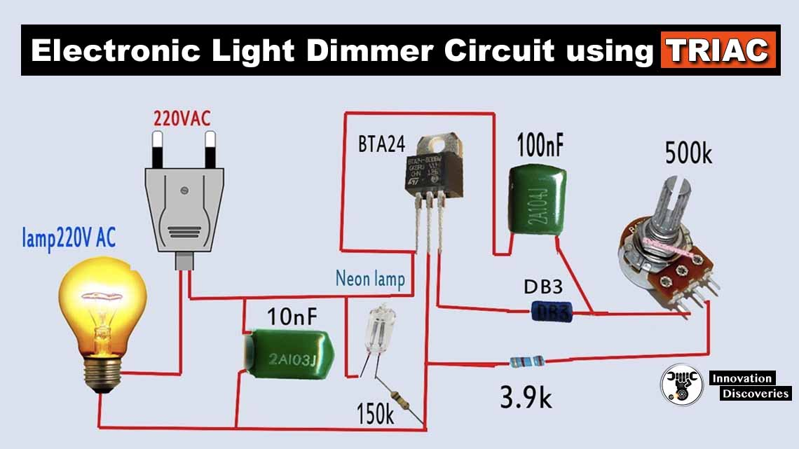 Electronic Light Dimmer Circuit using TRIAC