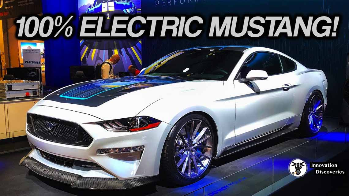This Bonkers 900-HP Electric Ford Mustang With a Six-Speed Manual Was Built for SEMA