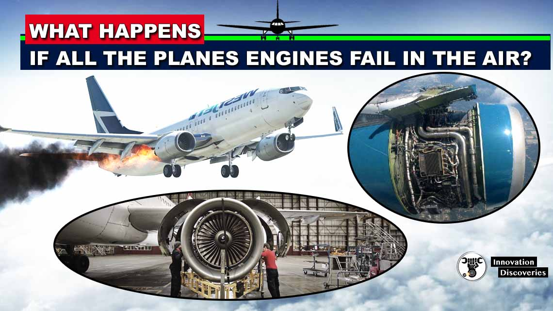 If all the aircraft's engines fail, will the plane still fly or will it fall out of the sky?