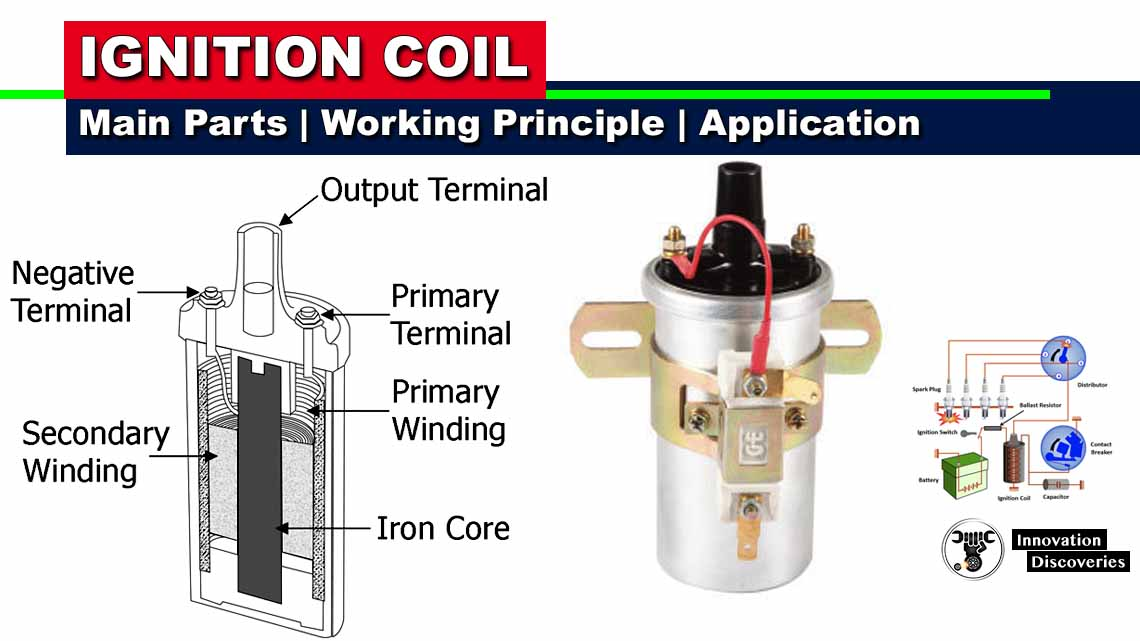 Ignition Coil – Main Parts, Working Principle and Application