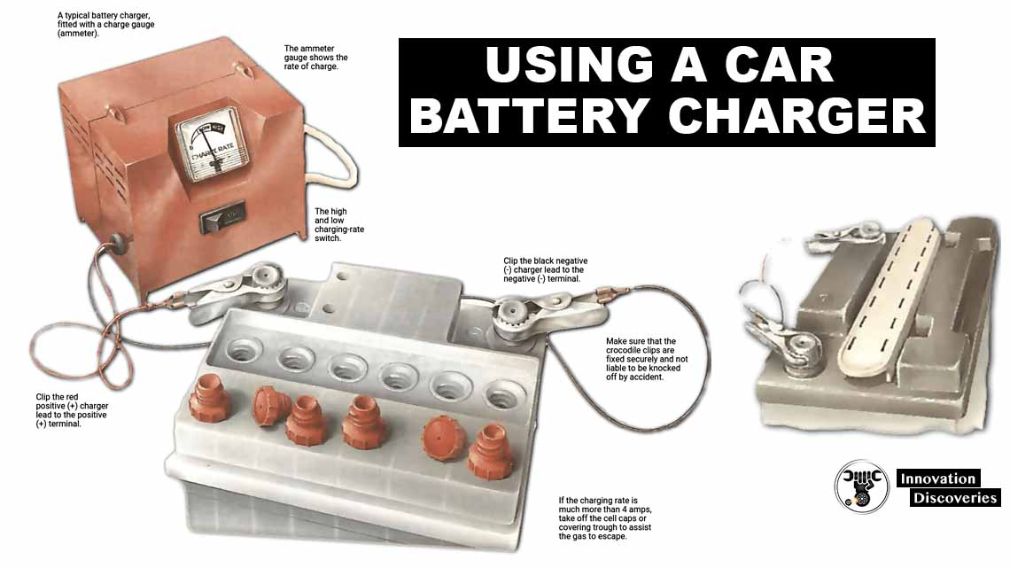 Using a car battery charger