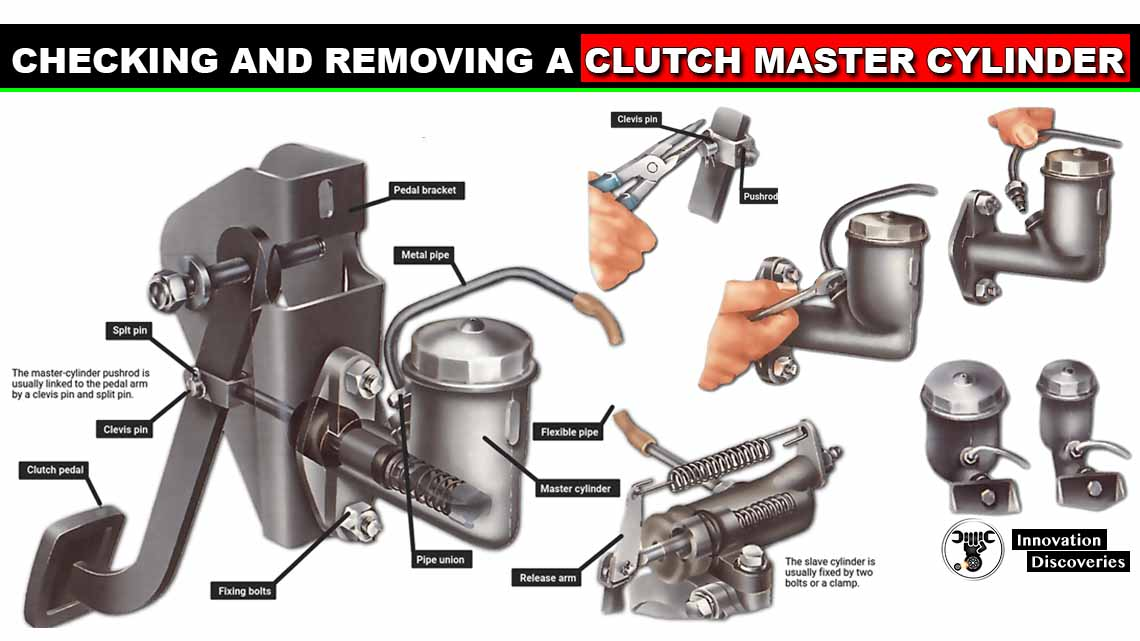 Checking and removing a clutch master cylinder
