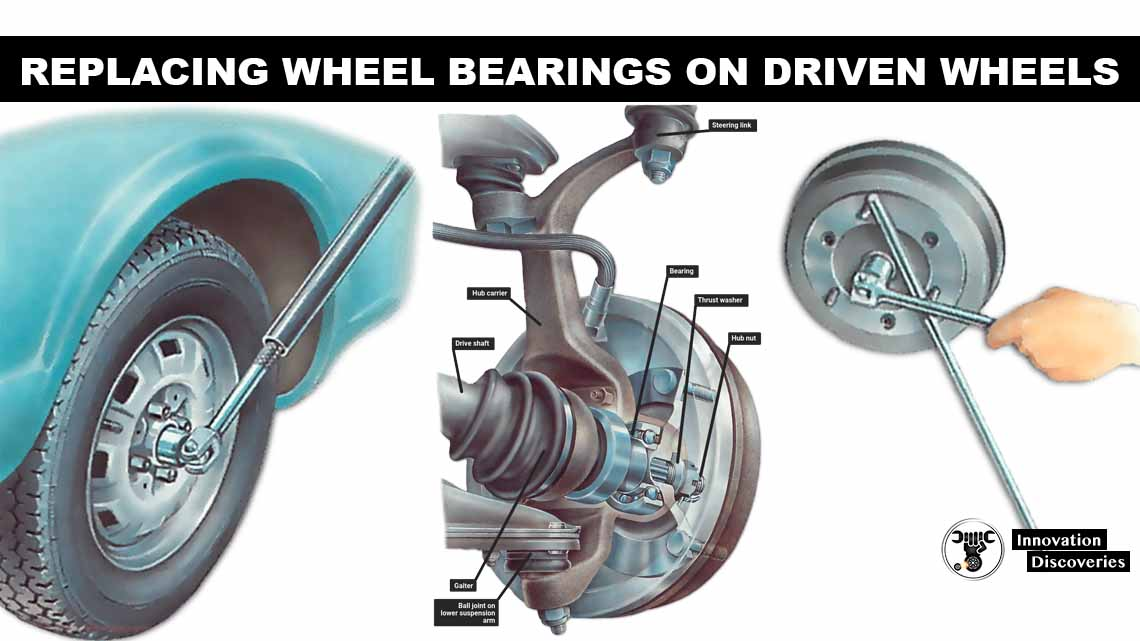 Replacing wheel bearings on driven wheels