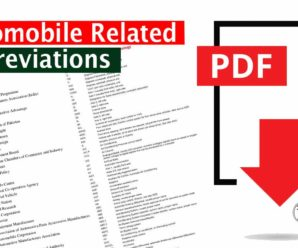 Automobile Related Abbreviations PDF by Innovation Discoveries
