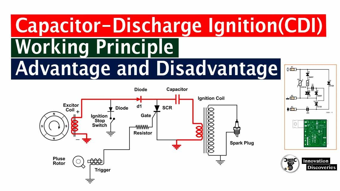 Capacitor-Discharge Ignition(CDI) Working Principle, Its Advantage and Disadvantage