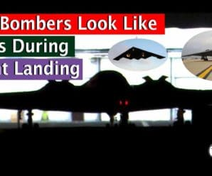 B-2 Bombers appear like UFOs in this video during the night