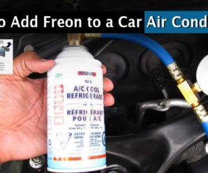 How to add Freon to the air conditioner on a car