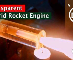 Hand Made DIY Transparent Hybrid Rocket Engine