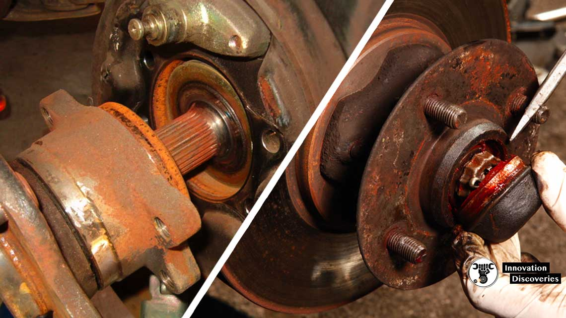 Rust And Dust On The Wheel Bearings