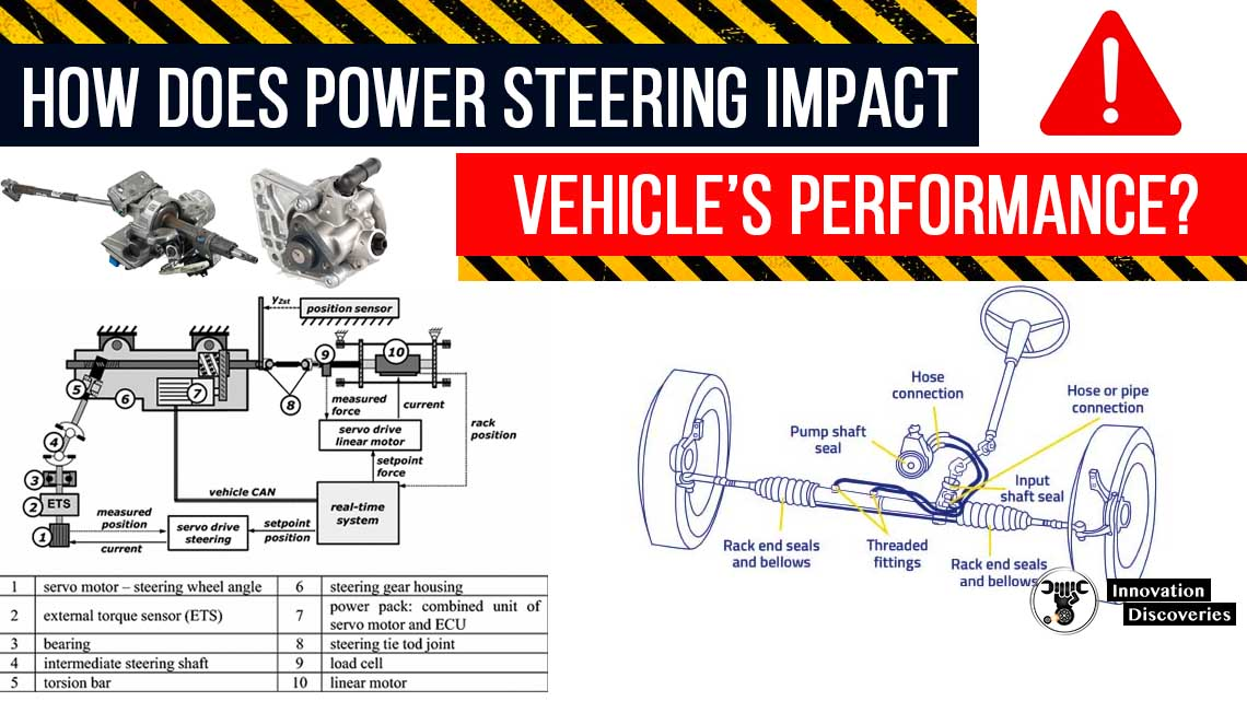How does power steering impact a vehicle's performance