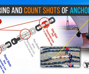 ANCHORING AND COUNT SHOTS OF ANCHOR CHAIN