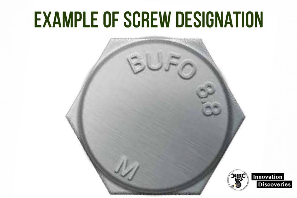Example of screw designation