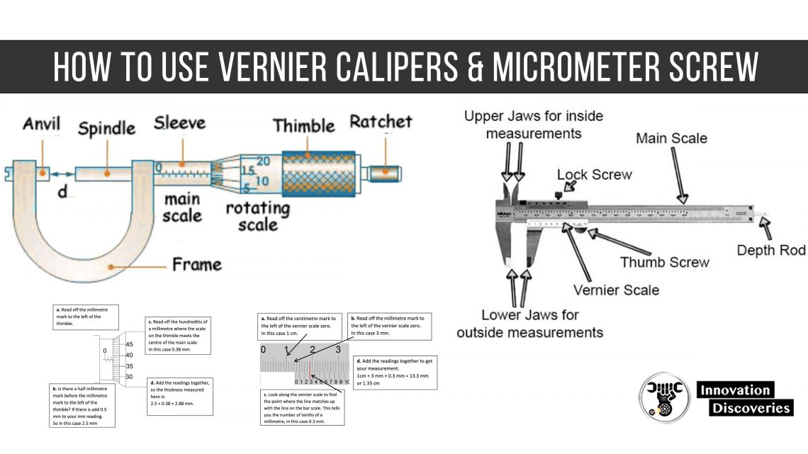 How to use Vernier Calipers & Micrometer Screw