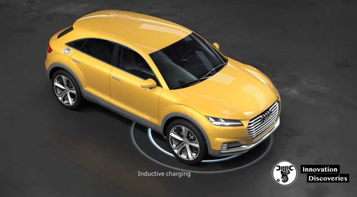 Inductive charging in show car Audi TT offroad concept