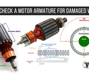 HOW TO CHECK A MOTOR ARMATURE FOR DAMAGED WINDINGS