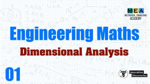 Engineering Maths – Dimensional Analysis