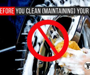 Think Before You Clean (Maintaining) Your Wheels
